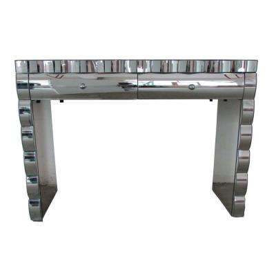 Coyle Mirrored 2-Drawer Console Table