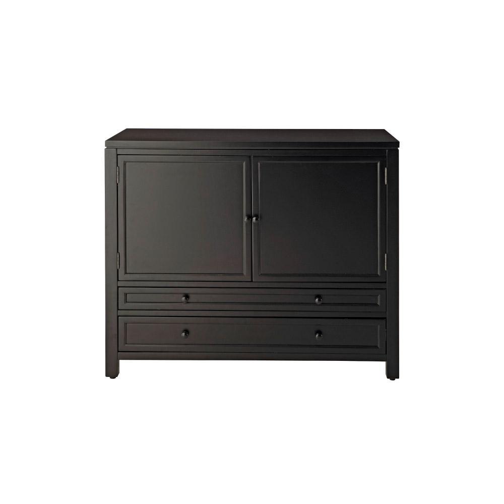 Martha Stewart Living Craft Space Silhouette Black Wood Storage Cabinet (42
