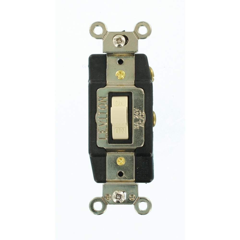 Leviton 3 Amp Industrial Grade Heavy Duty Single-Pole Double-Throw  Center-Off