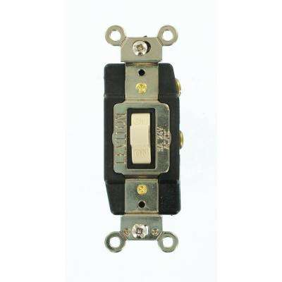 3 Amp Industrial Grade Heavy Duty Single-Pole Double-Throw Center-Off Momentary Contact Toggle Switch, Ivory