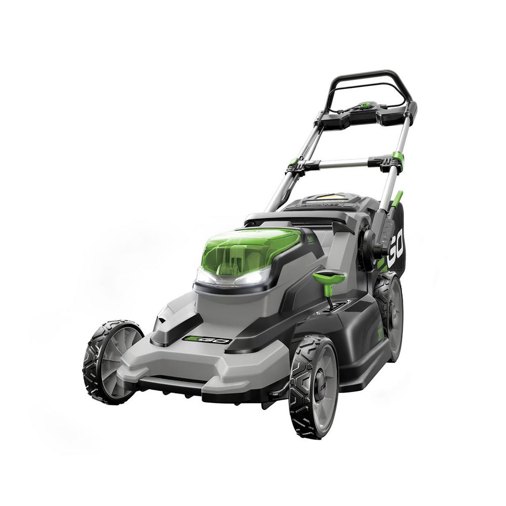 EGO 20 in. 56-Volt Lithium ion Cordless Battery Walk Behind Push Mower with 5.0Ah Battery and Charger Included