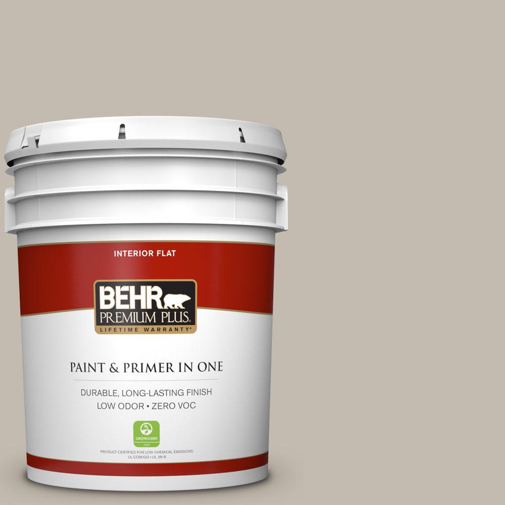 BEHR Premium Plus 5-gal. #ECC-46-1 Sierra Madre Zero VOC Flat Interior Paint