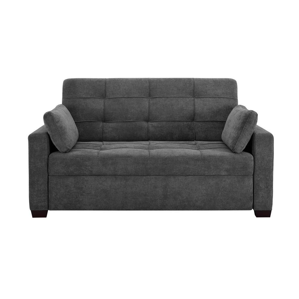 Deals on Serta Harrington 37.6 in. 2-Seater Convertible Tuxedo Sofa
