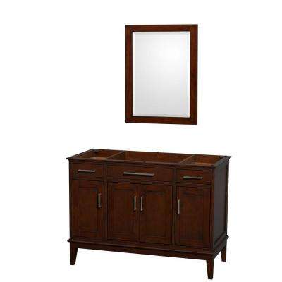 Hatton 47 in. Vanity Cabinet with Mirror in Dark Chestnut