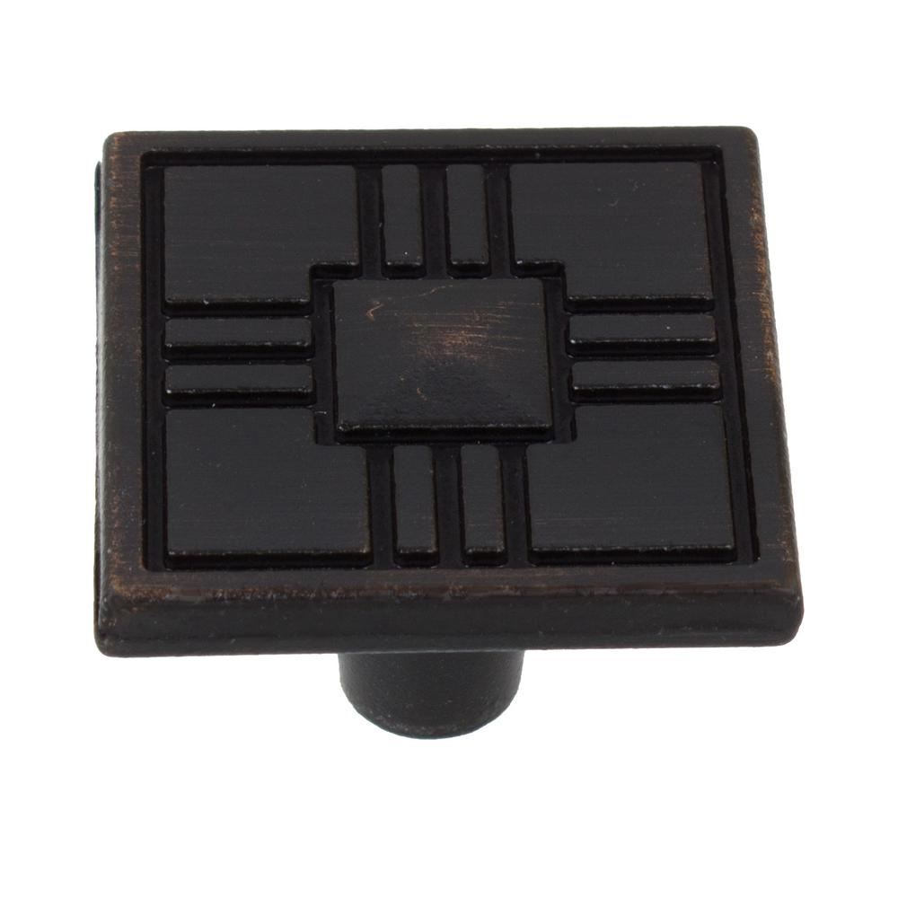 Oil Rubbed Bronze Craftsman Collection Square Cabinet Knobs