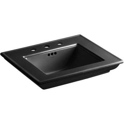 Memoirs Stately 24.5 in. Widespread Console Sink Basin in Black