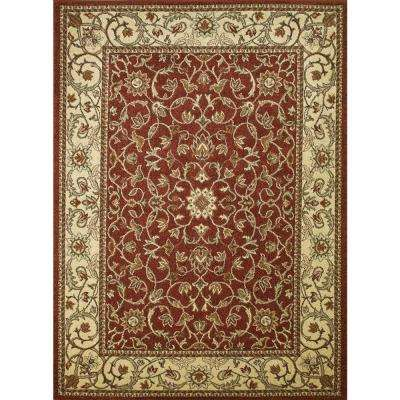 Chester Flora Red 3 ft. 3 in. x 4 ft. 7 in. Area Rug
