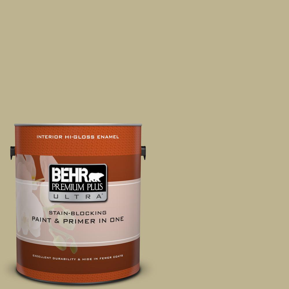 BEHR Premium Plus Ultra 1 gal. #PPU9-10 Wasabi Powder Hi-Gloss ...