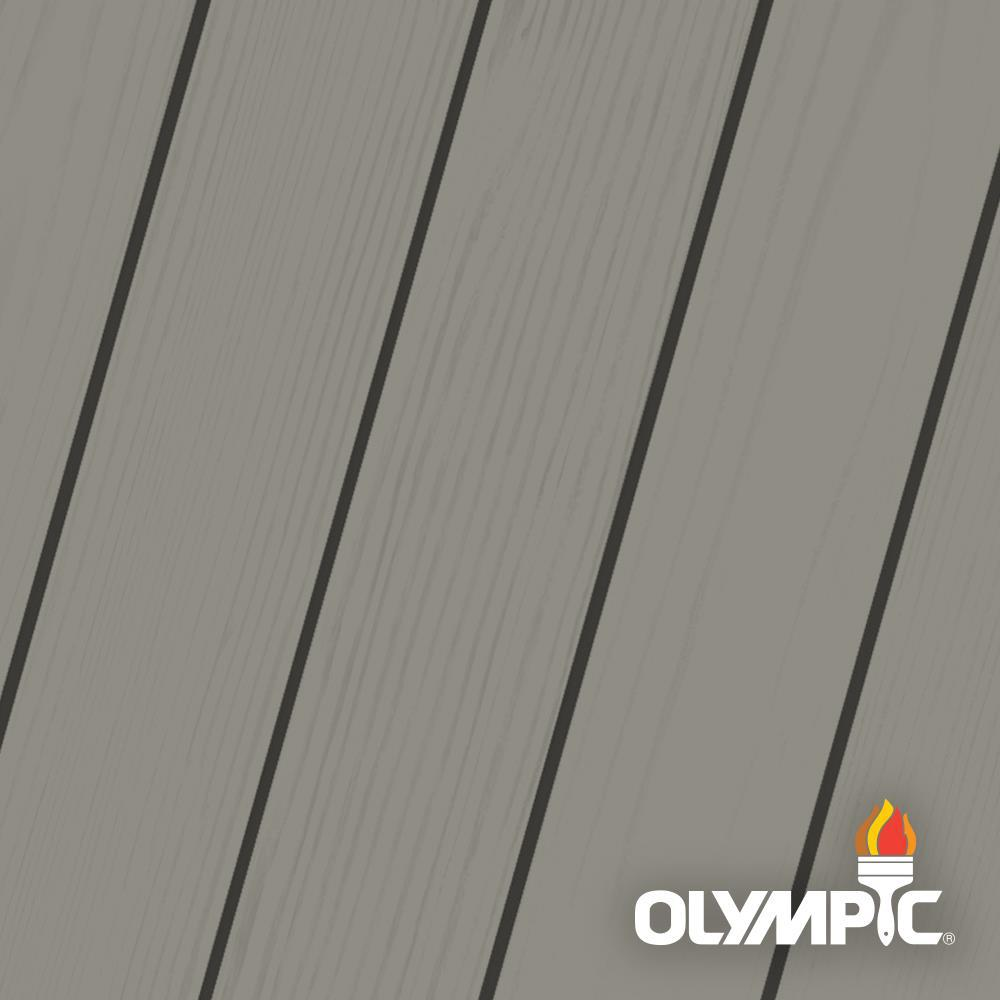Olympic Maximum 5 gal. Pewter Solid Color Exterior Stain and Sealant in One