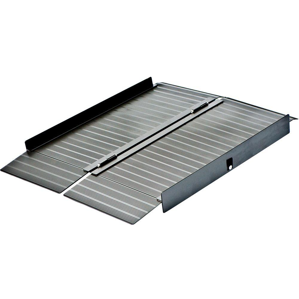 Peace Of Mind 4 ft. x 2 ft. 5 in. x 4 in. Aluminum Portable Ramp in Bronze