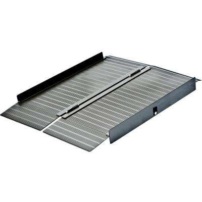 4 ft. x 2 ft. 5 in. x 4 in. Aluminum Portable Ramp in Bronze