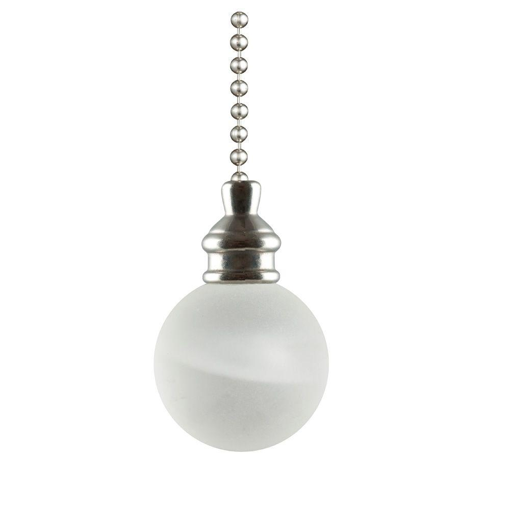Westinghouse Frosted White Alabaster Ball Pull Chain 7712300 The Home Depot