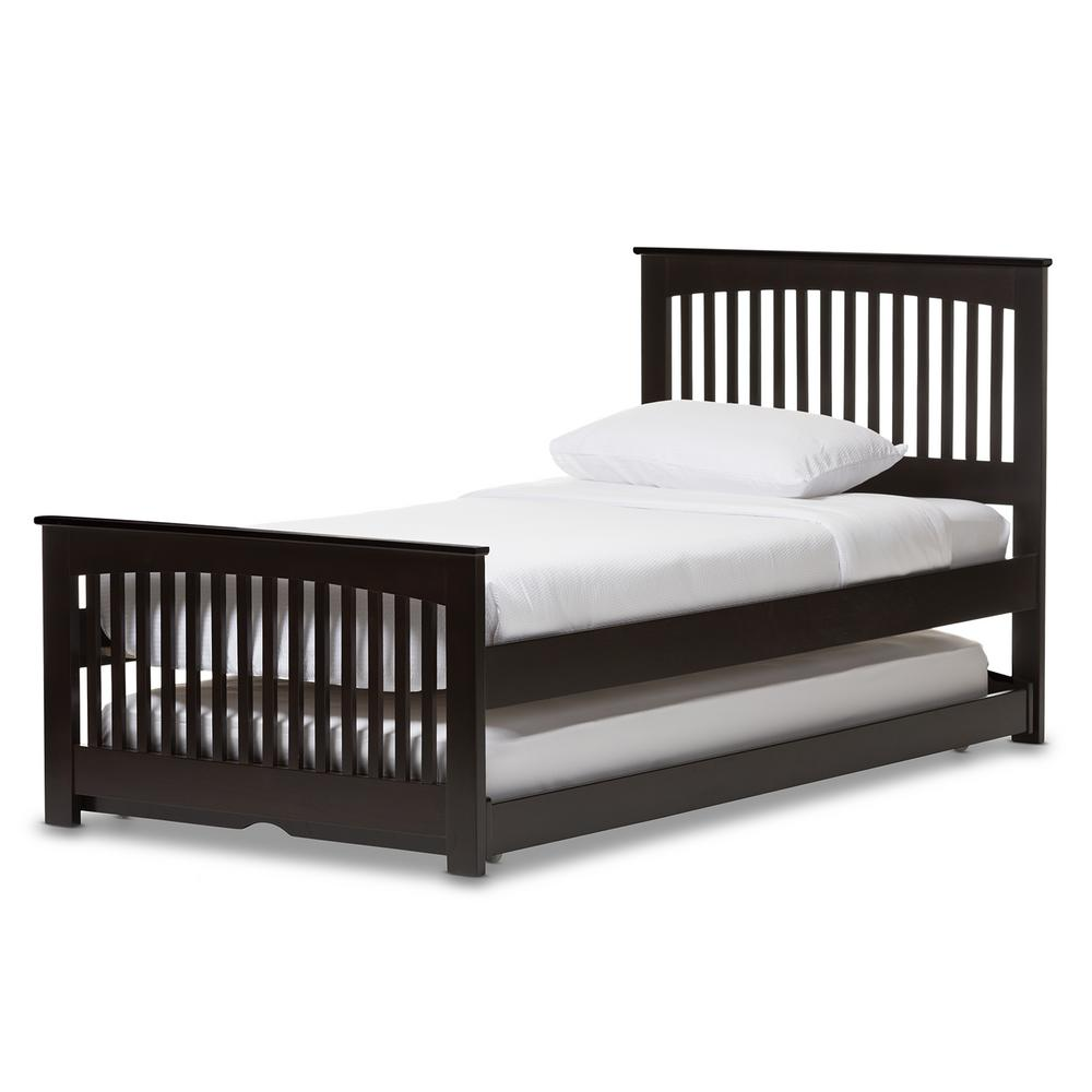 Hevea Dark Brown Twin Platform Bed