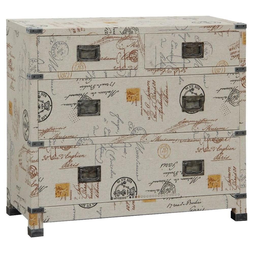 Pulaski Furniture 4-Drawer Traveler Chest in Postcard Motif