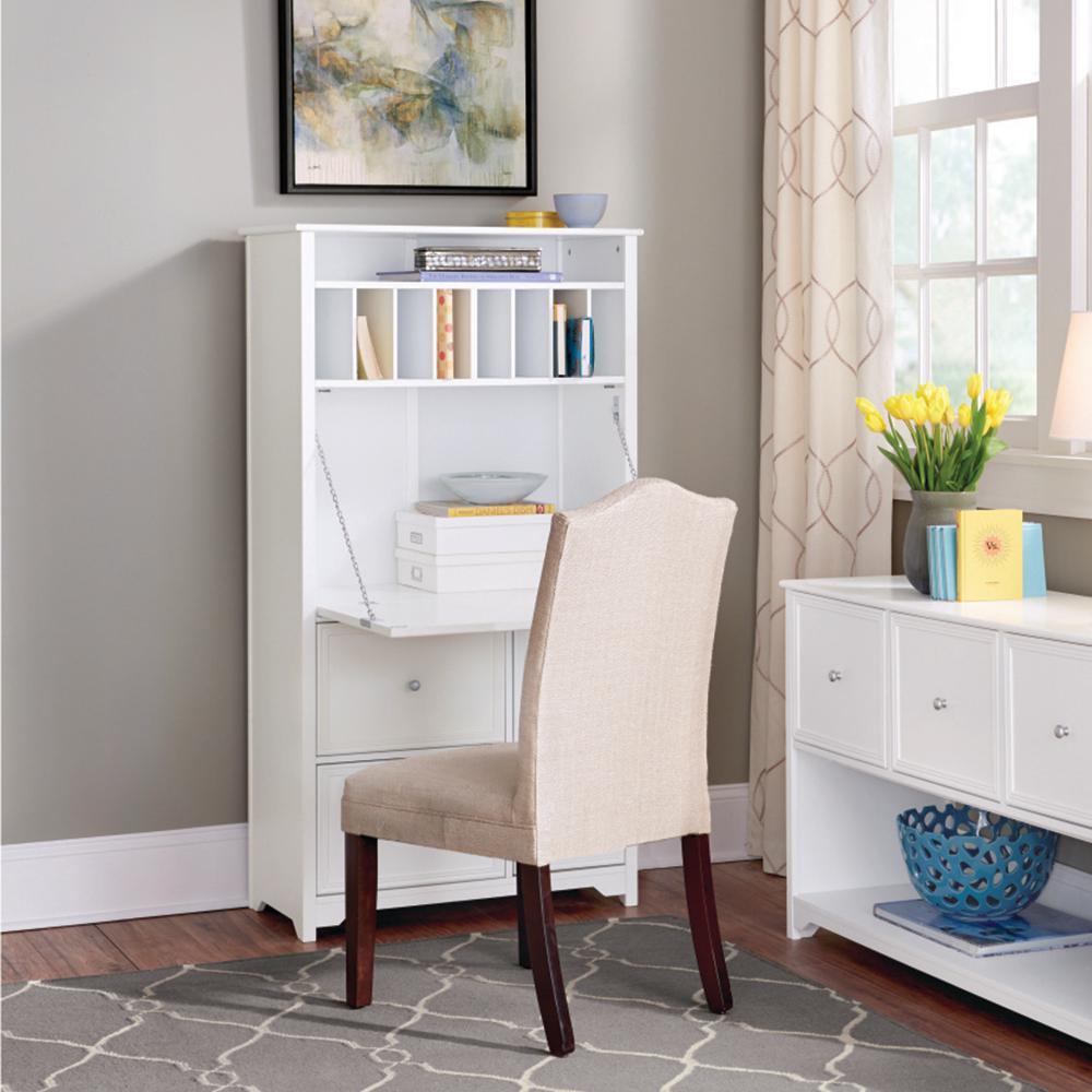 Home Decorators Collection Oxford White Secretary Desk 5020700410