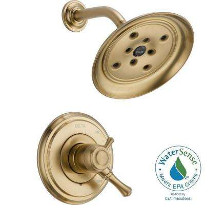 Cassidy 1-Handle Shower Only Faucet Trim Kit in Champagne Bronze (Valve Not Included)