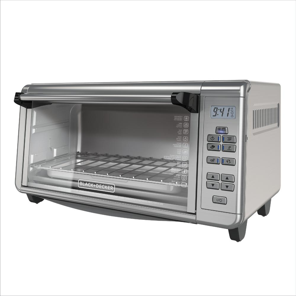 8 slice toaster oven extra wide countertop convection durable stainless steel 692619461046 ebay. Black Bedroom Furniture Sets. Home Design Ideas