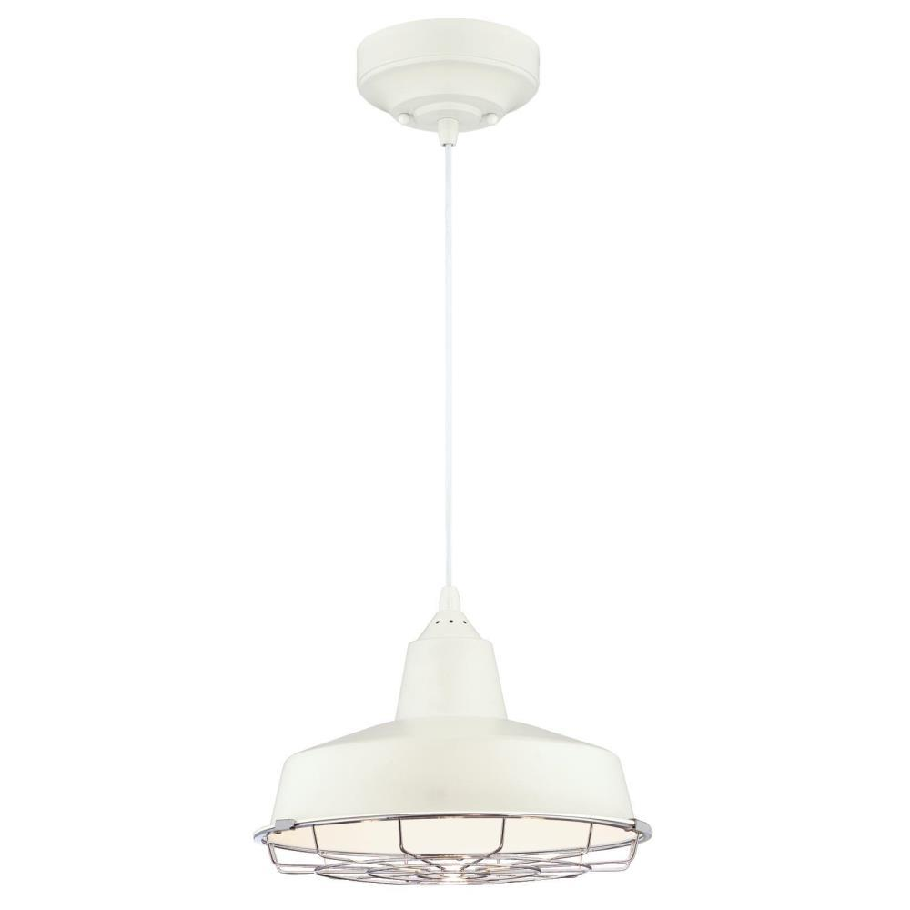 Westinghouse Academy 75-Watt Matte White and Chrome Integrated LED Pendant