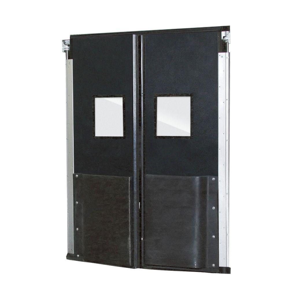 Aleco ImpacDor FD-175 1-3/4 in. x 72 in. x 96 in. Black Impact Door