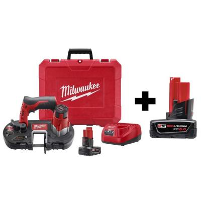 M12 12-Volt Lithium-Ion Cordless Sub-Compact Band Saw XC Kit W/ Free 6.0Ah Battery