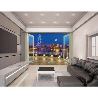 120 in. H x 96 in. W London Skyline Wall Mural