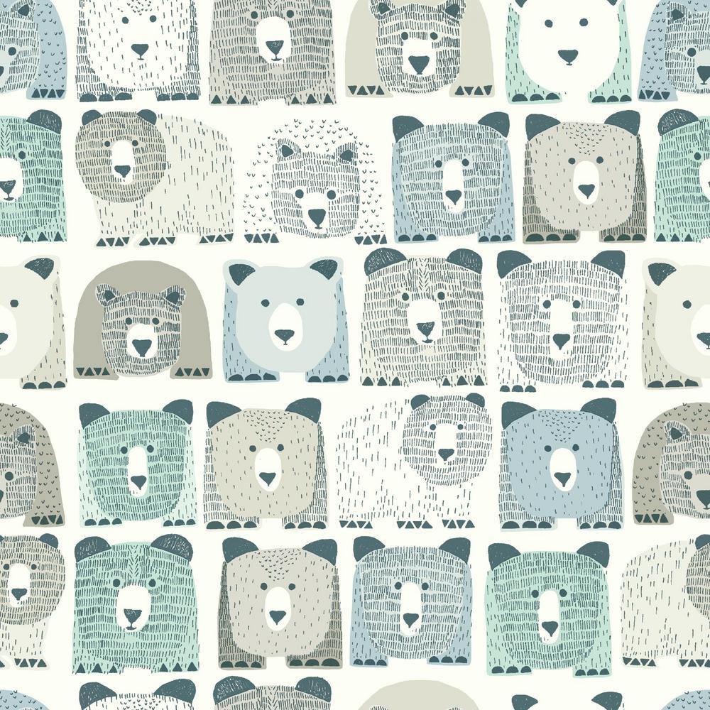 DwellStudio Baby and Kids Bears Sidewall Wallpaper