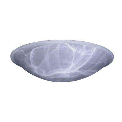 1-Light Ceiling Iron Flush Mount with Marbleized Glass