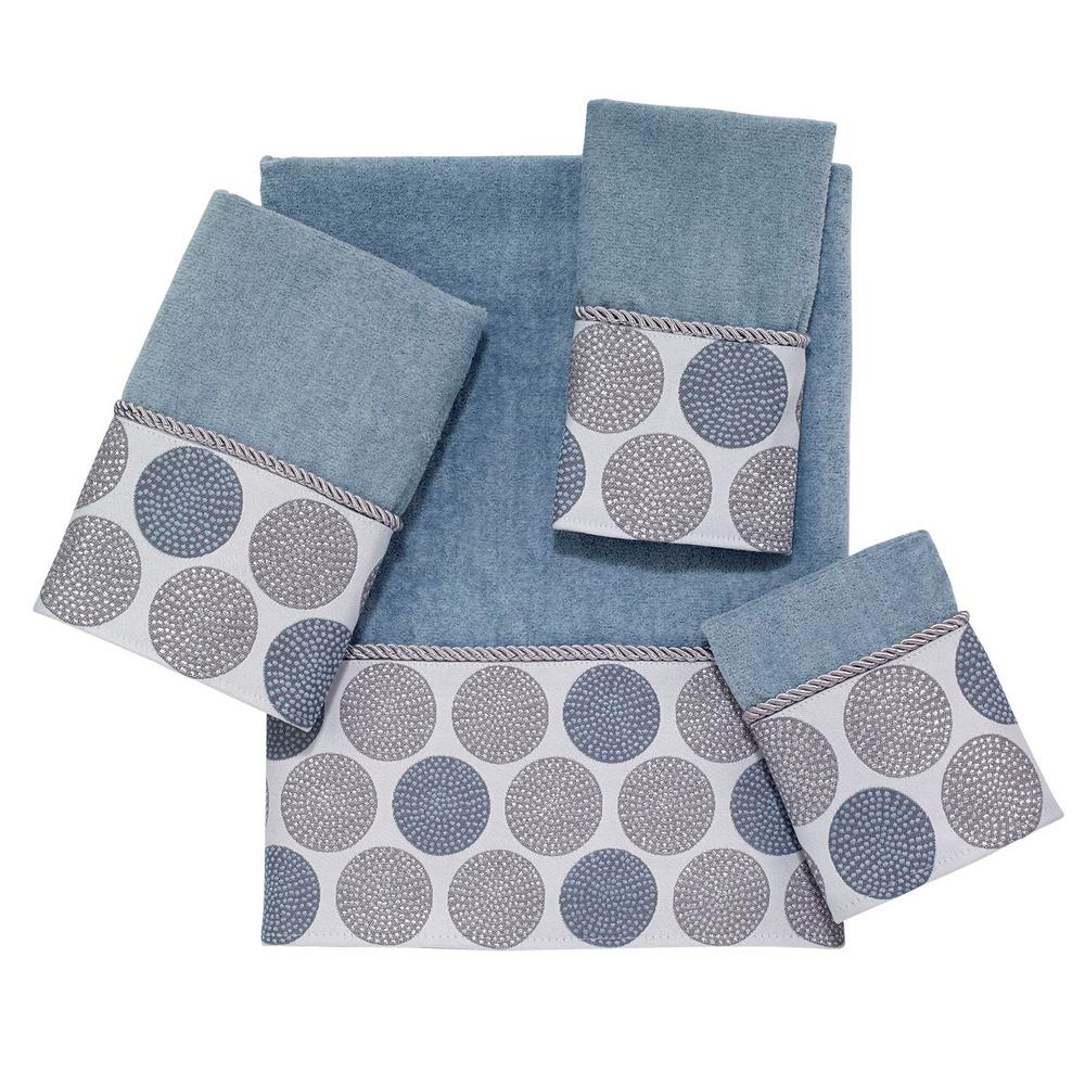 Dotted Circles 4-Piece Bath Towel Set in Mineral