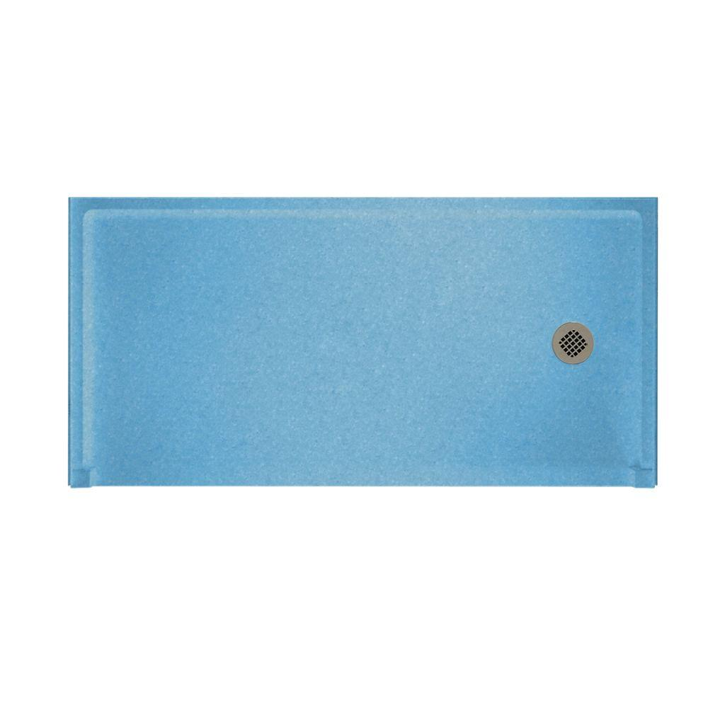 Swanstone Barrier Free 30 in. x 60 in. Single Threshold Shower Floor in Tahiti Blue-DISCONTINUED