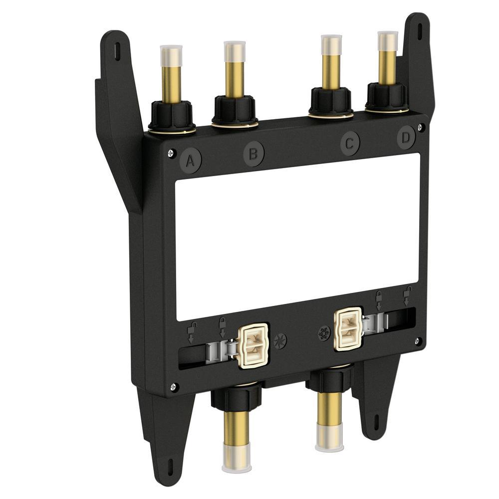u by moen shower 4outlet digital shower valve - Shower Valves