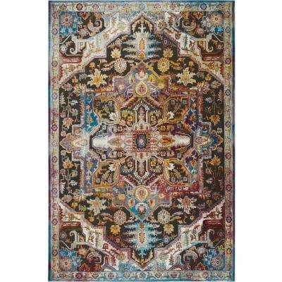 Ambiance Prana Charcoal/Multi 9 ft. 2 in. x 12 ft. 5 in. Indoor Area Rug