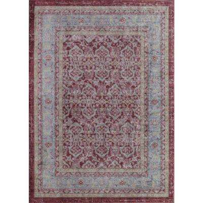 Ambrosia Cherry Red Red 4  ft. 0 in. x 6  ft. 0 in. Rectangular Area Rug