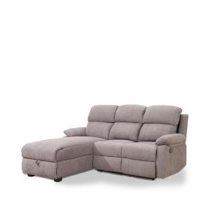 Ottomanson Recliner L-Shaped Taupe Brown Corner Sectional ...