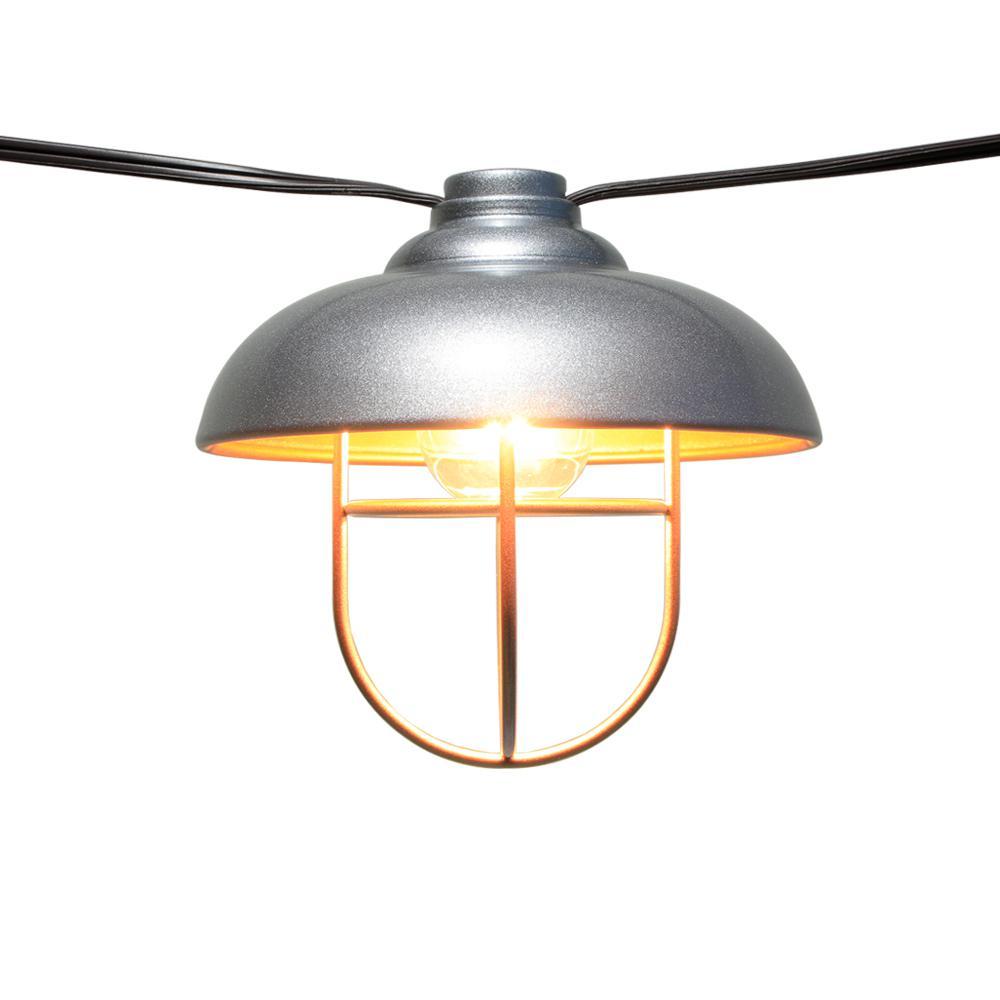Hampton Bay Mercer Light Bulb: Hampton Bay 8-Light 11 Ft. 11 In. String Light With Hood