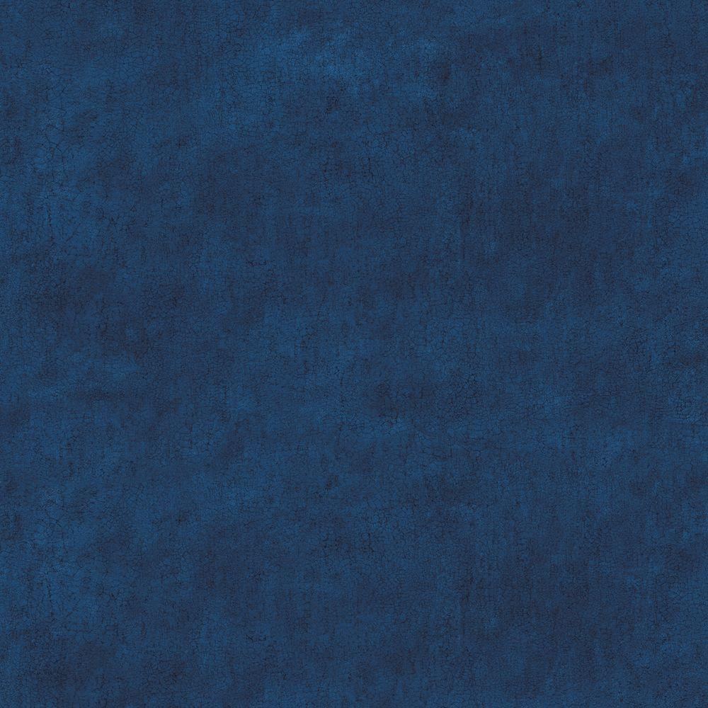 The Wallpaper Company 56 sq. ft. Blue Crackle Faux Texture Wallpaper-DISCONTINUED