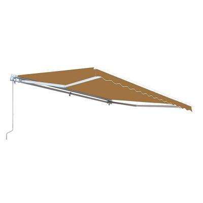 13 ft. Manual Patio Retractable Awning (120 in. Projection) in Sand