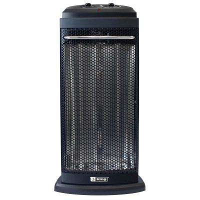 120-Volt Portable Electric Radiant Tower Heater in Black