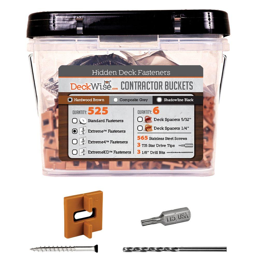Extreme Ipe Clip Brown Biscuit Style Hidden Deck Fastener Kit for
