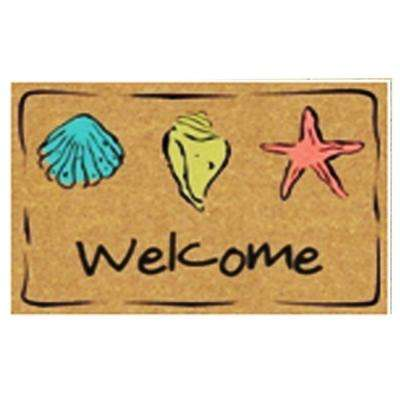 Welcome shell 24 in. x 36 in. Coir Mat