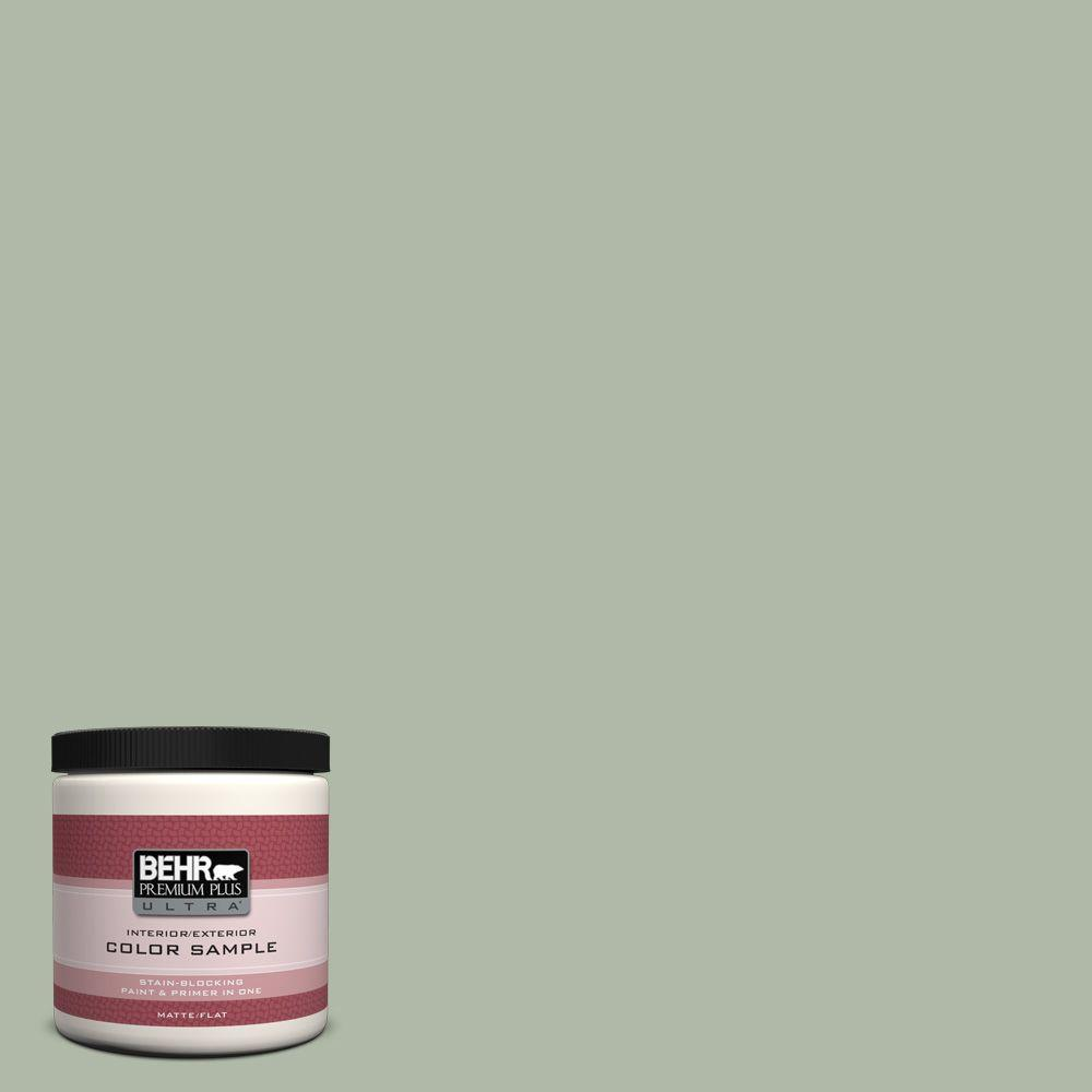 BEHR Premium Plus Ultra 8 oz. #N390-3 Jojoba Matte Interior/Exterior Paint and Primer in One Sample