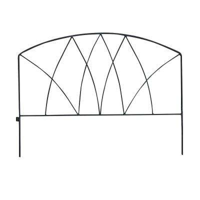 18 in. H Wrought Iron Garden Fence