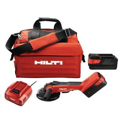 36-Volt Lithium-Ion Brushless Cordless 6 in. AG 600 Angle Grinder Tool Kit with Kwik Lock