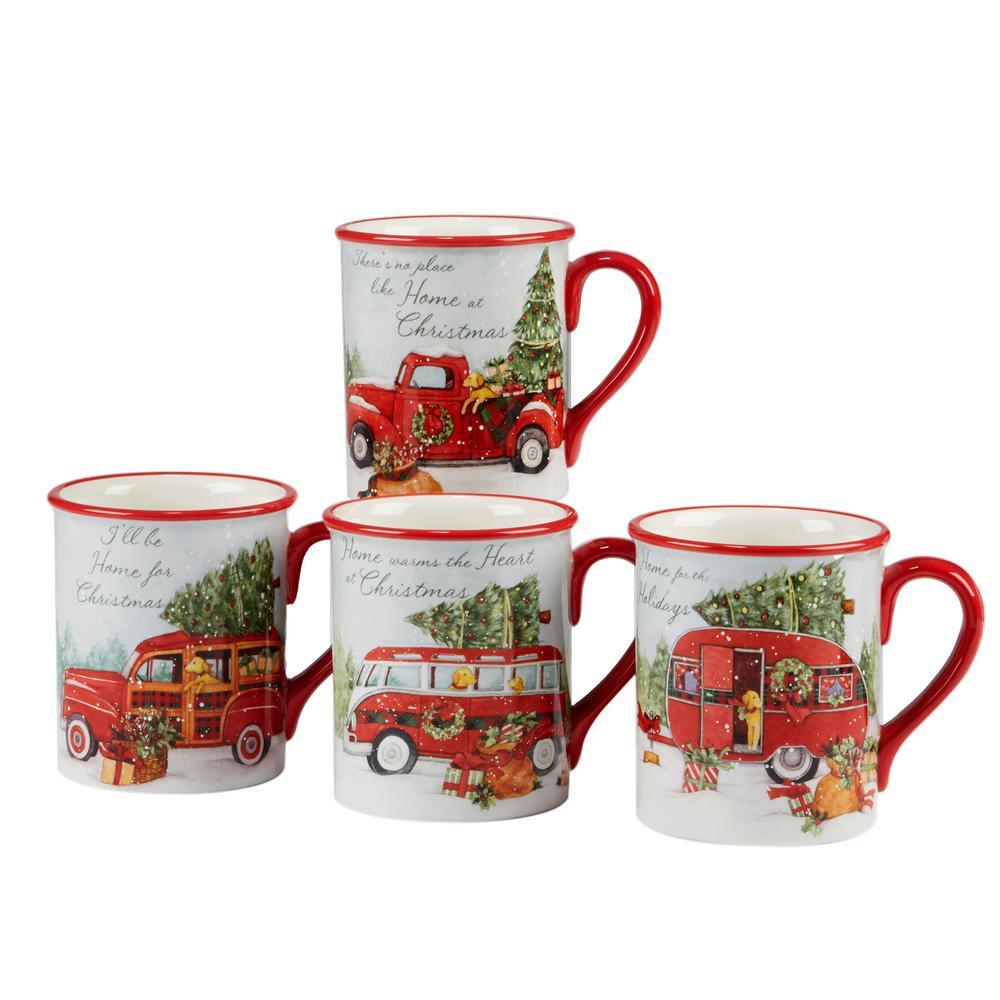 Home For Christmas 4-Piece Mug Set