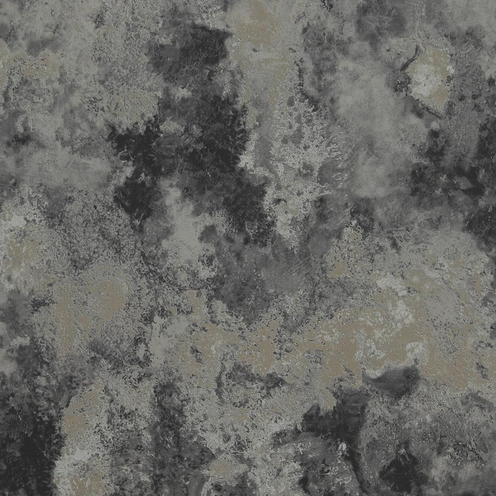 Concrete Cloudy Abstract Metallic Silver And Black