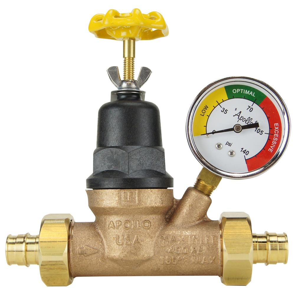 3/4 in. Bronze Double Union PEX-A Barb Water Pressure Regulator with
