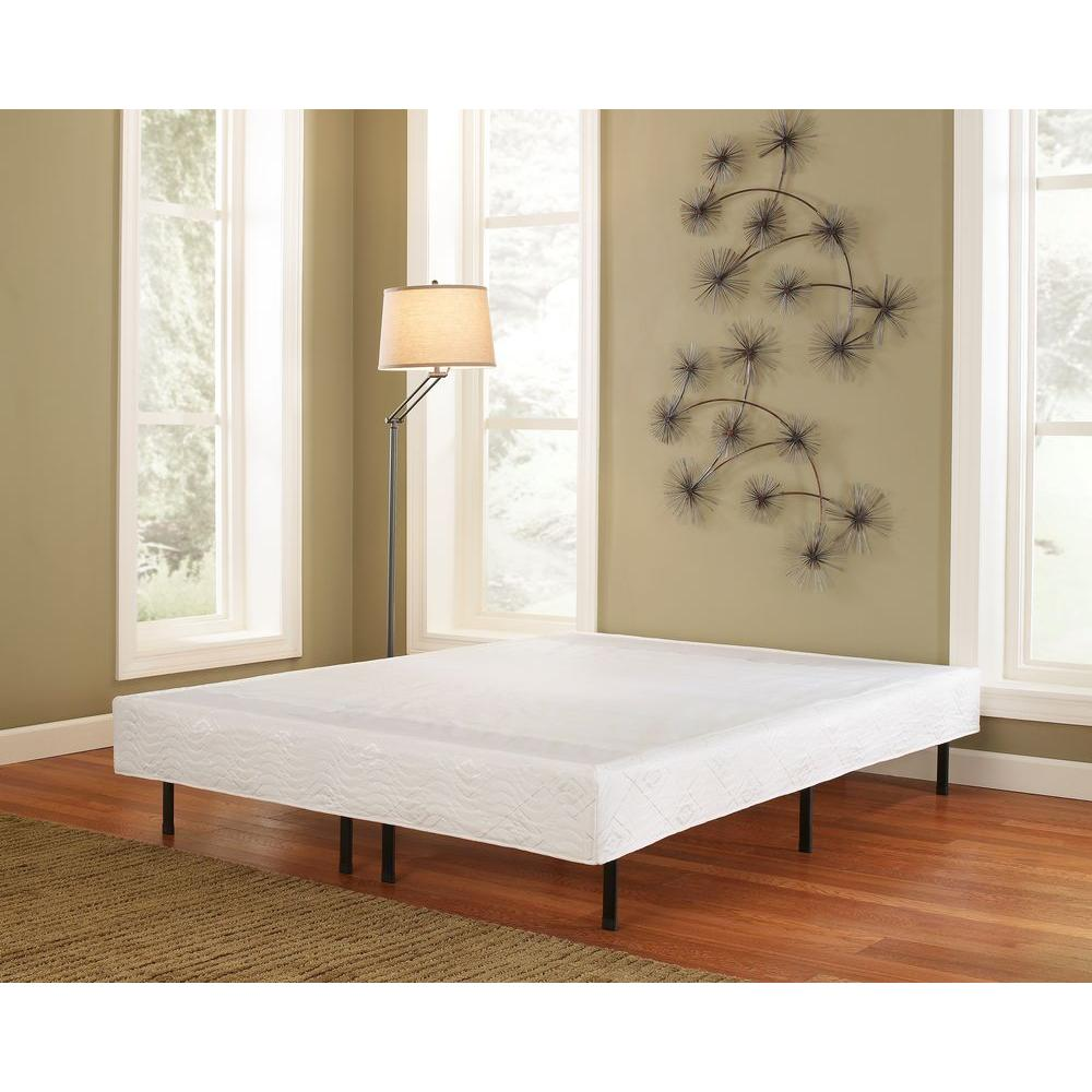 Queen metal platform bed frame with cover