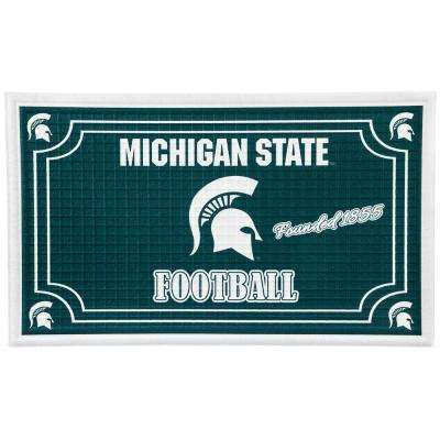 Michigan State University 18 in. x 30 in. Embossed Welcome Mat