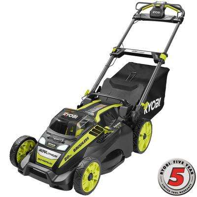 20 in. 40-Volt Brushless Lithium-Ion Cordless Battery Self-Propelled Lawn Mower - 5.0 Ah Battery and Charger Included