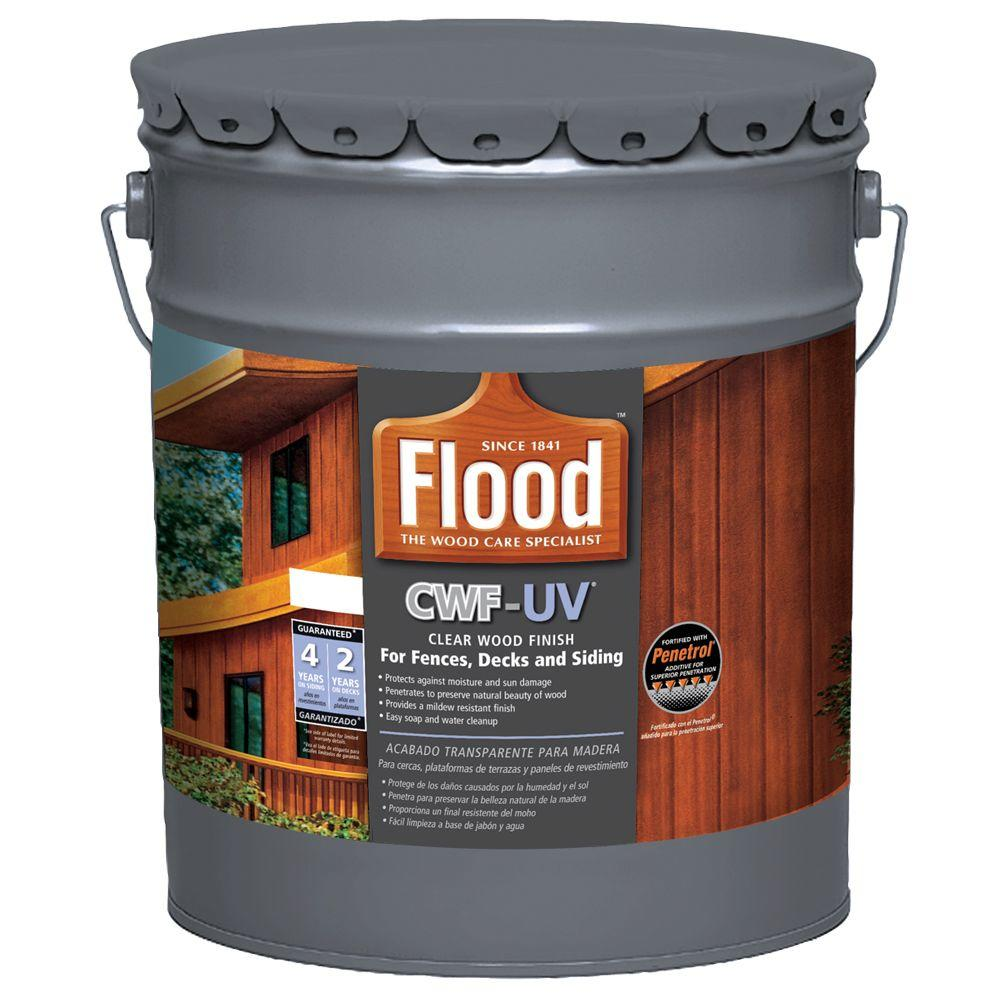 Exterior Wood Finishes: Flood 5 Gal. Clear CWF-UV Oil Based Exterior Wood Finish
