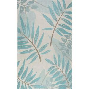 Nuloom Trudy Art Deco Leaves Turquoise 8 Ft X 11 Ft
